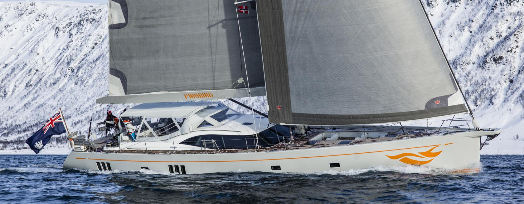 Oyster 885 Firebird Sailing in Norway