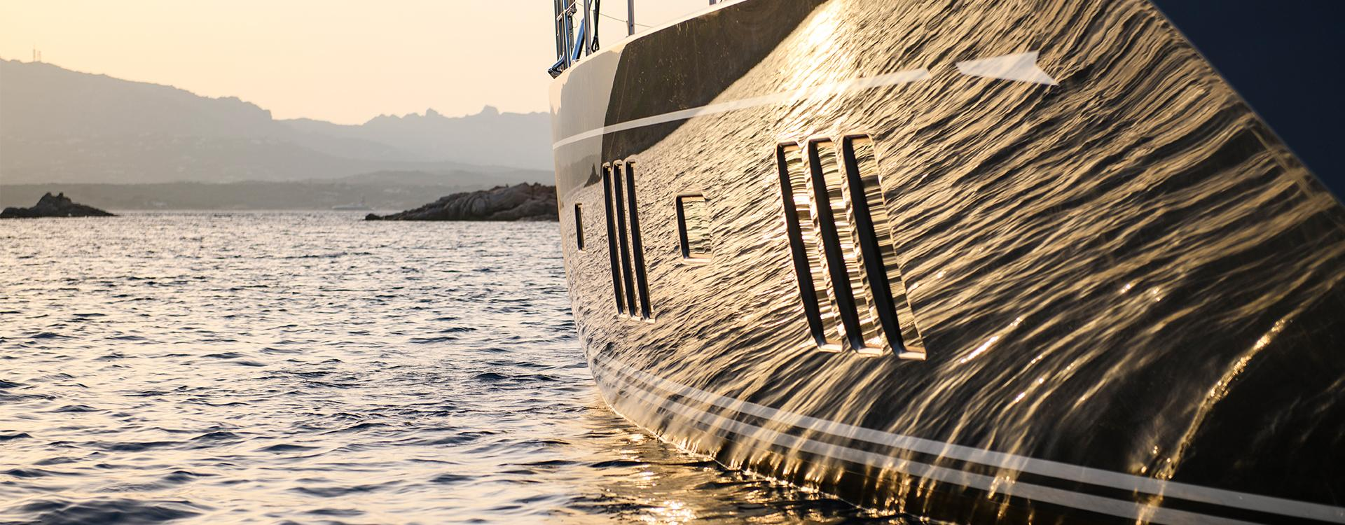 New Oyster Luxury Sailing Yacht at Anchor