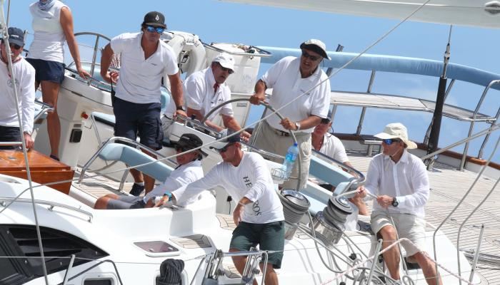 Oyster Yachts Founder Richard Matthews at the Helm of Midnight