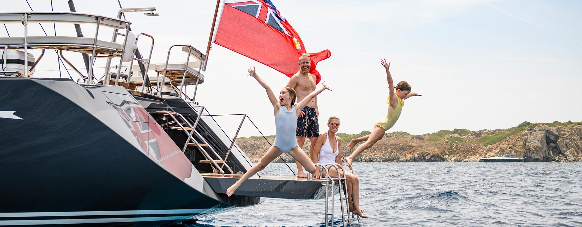 Young Family on Oyster Luxury Sailing Charter